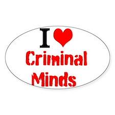 I Love Criminal Minds Decal
