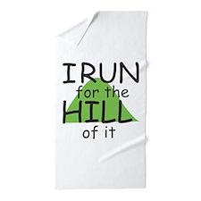 Funny Hill Running Beach Towel