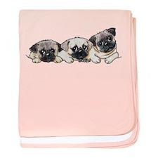 Pocket Pugs baby blanket