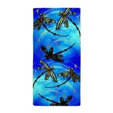 Dragonfly Flit Electric Blue Beach Towel