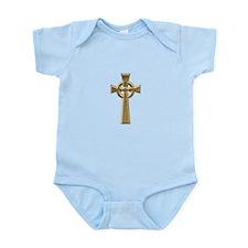 """""""3-D"""" Golden Celtic Cross Infant Bodysuit"""