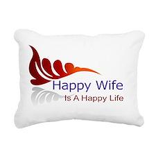 happy wife Rectangular Canvas Pillow