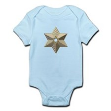 3-D Silver and Gold Star of David Infant Bodysuit