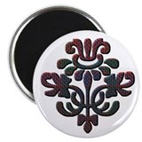 Fraser Plaid Thistle Magnet