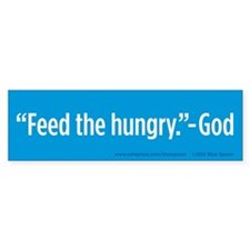 Feed The Hungry Bumper Sticker (Blue, 50 Pack)