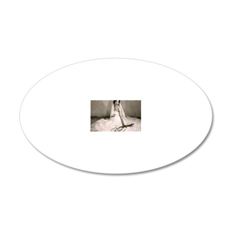 The old bride 20x12 Oval Wall Decal