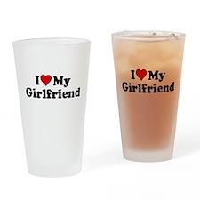 I Heart my Girlfriend Drinking Glass