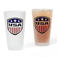 WC14 USA Drinking Glass