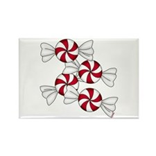 Peppermint Candy Rectangle Magnet