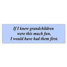 If I knew grandchildren... Bumper Bumper Sticker