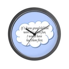 If I knew grandchildren... Wall Clock