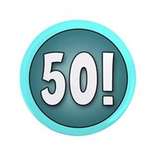 "FUN 50th Birthday 3.5"" Button"