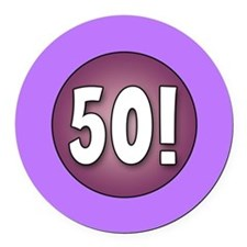 FUN 50th Birthday Round Car Magnet