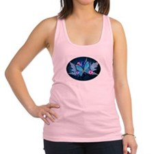 blue butterfly Racerback Tank Top