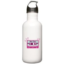 Mix Tape Music Notes Water Bottle