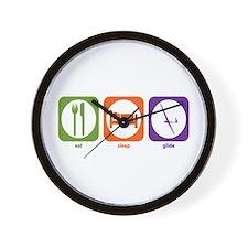 Eat Sleep Glide Wall Clock