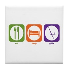 Eat Sleep Glide Tile Coaster