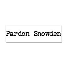 Pardon Snowden Car Magnet 10 X 3
