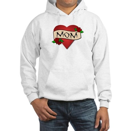 Mom Tattoo Hooded Sweatshirt