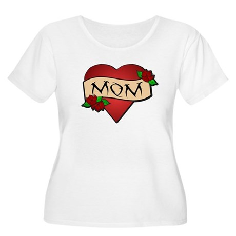 Mom Tattoo Women's Plus Size Scoop Neck T-Shirt