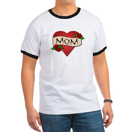 Mom Tattoo Ringer T