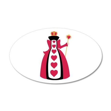 Queen Of Hearts Wall Decal