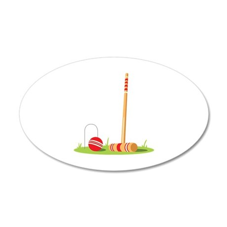 Croquet Mallet Game Wall Decal
