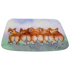 Five Corgi butts Bathmat