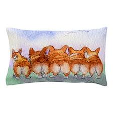 Five Corgi butts Pillow Case