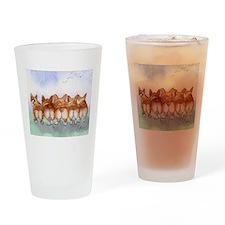 Five Corgi butts Drinking Glass