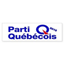 Parti Quebecois 2015 Bumper Sticker