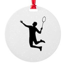 Badminton player jump Ornament