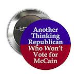 Republicans Against McCain Button
