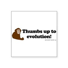 3-monkey thumbs sticker Sticker