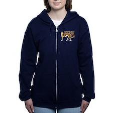 Cheetah Womens Zip Hoodie