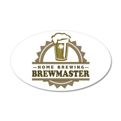 Brewmaster Home Beer Brewer Wall Decal