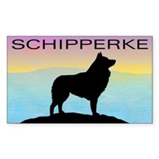 Seaside Schipperke Rectangle Decal