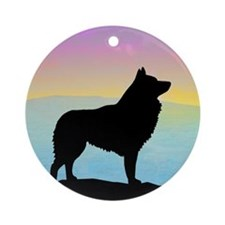 Seaside Schipperke Ornament (Round)