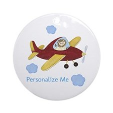 Personalized Airplane Ornament (Round)