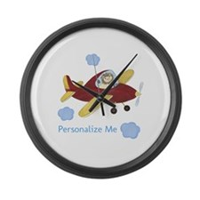 Personalized Airplane Large Wall Clock