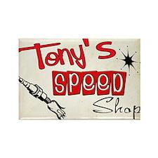 Tonys speed shop Rectangle Magnet