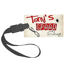 Tonys speed shop Luggage Tag
