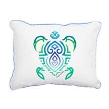 Tribal Turtle Rectangular Canvas Pillow