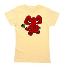 Elephant with Lollipop Girl's Tee