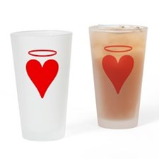Red Heart Angel Drinking Glass