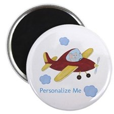 Personalized Airplane - Elephant Magnet