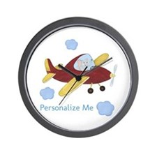 Personalized Airplane - Elephant Wall Clock