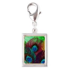 Colorful Peacock Charms