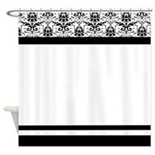 Elegant Damask Shower Curtains