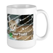 CUSTOMIZE Add 2 Photos 2 Texts Coffee Mug